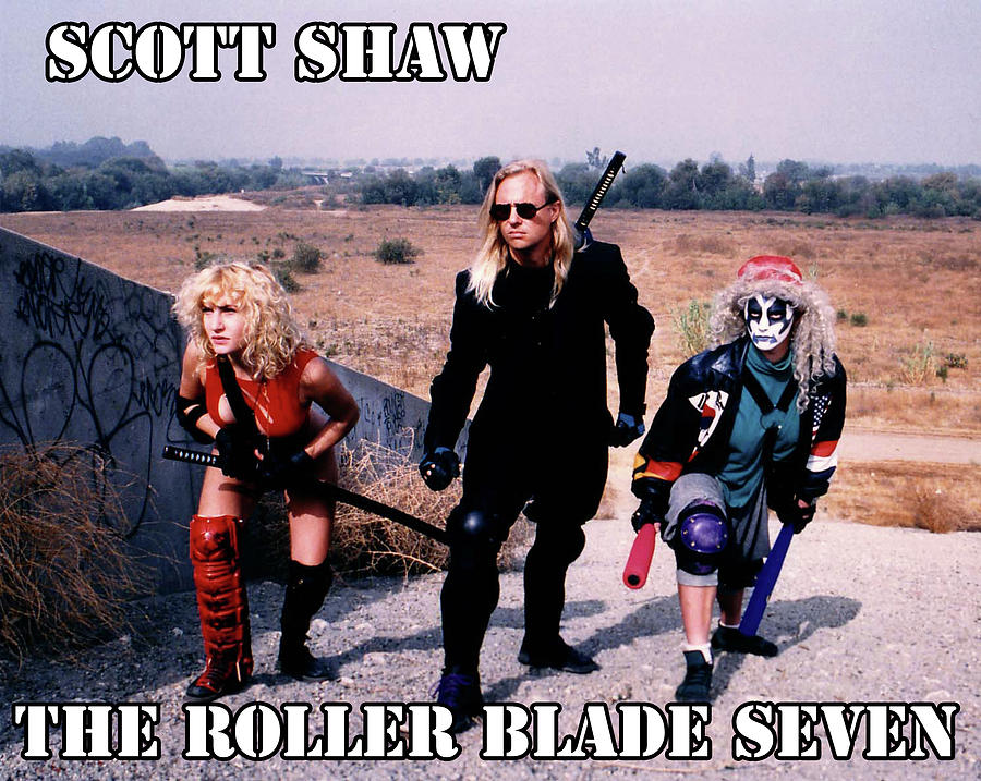 Scott Shaw Photograph - The Roller Blade Seven by The Scott Shaw Poster Gallery