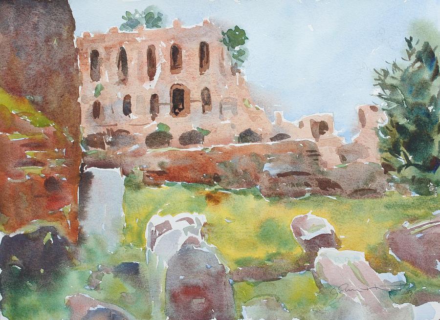 Roman Forum Painting - The Roman Forum by Owen Hunt