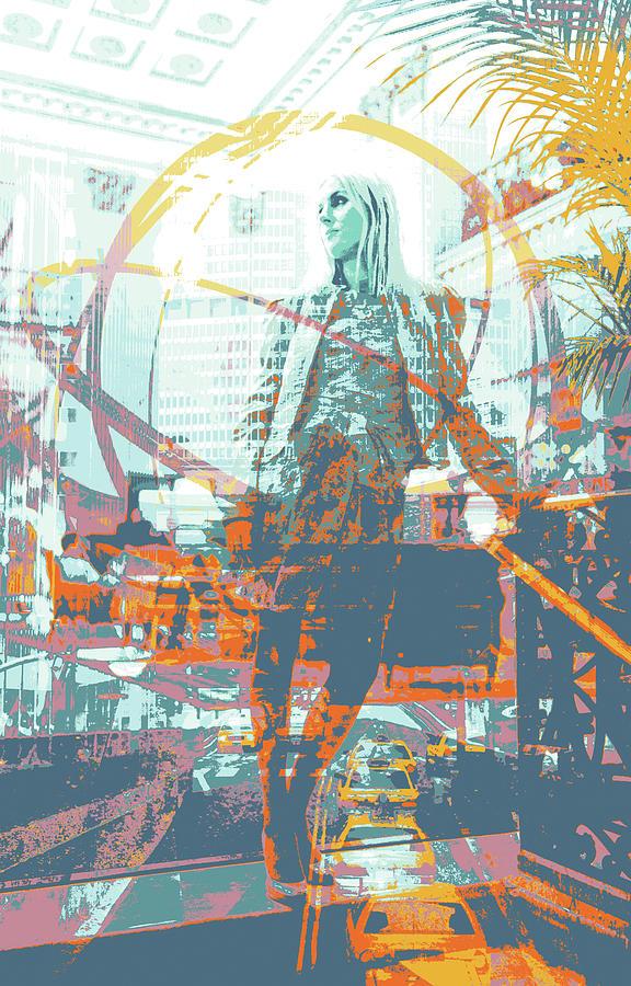 New York Mixed Media - The Roosevelt by Shay Culligan