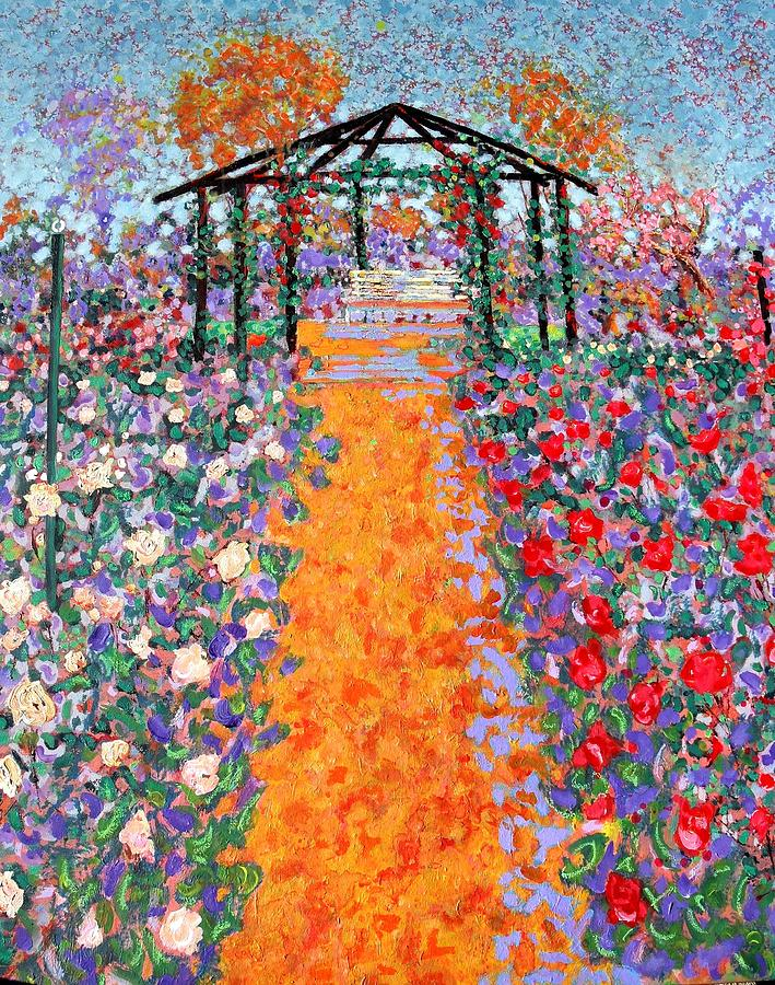 Acrylic Painting - The Rose Garden by Richard Tuvey