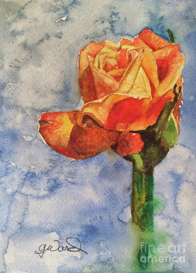 Flower Painting - The Rose by Glen Ward