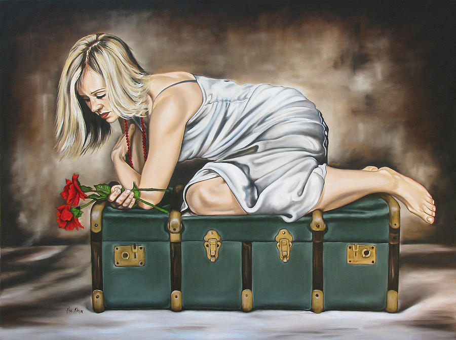 Woman Painting - The Rose by Ilse Kleyn