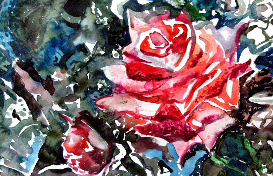 Rose Drawing - The Rose by Mindy Newman