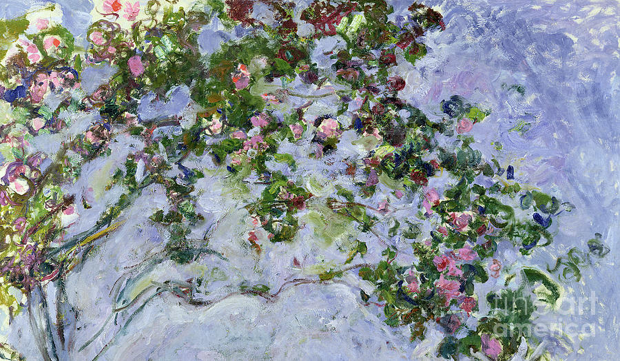 The Roses Painting - The Roses by Claude Monet