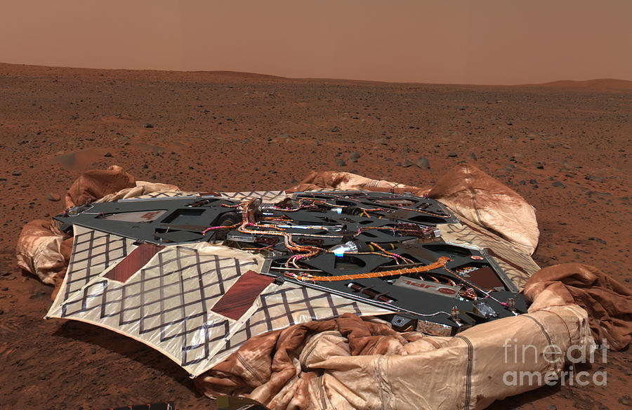 Soil Photograph - The Rovers Landing Site, The Columbia by Stocktrek Images