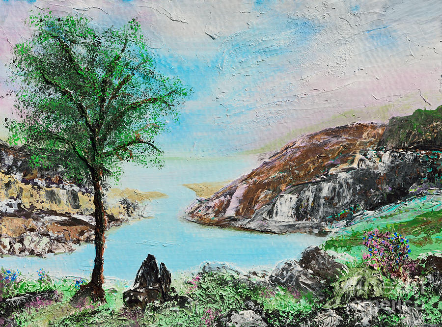 Landscape Painting - The Rowan Tree by Alys Caviness-Gober