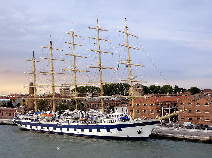 Royal Clipper Photograph - The Royal Clipper Docked In Venice Italy by Richard Rosenshein