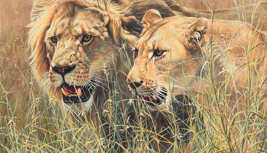 Wildlife Artist Painting - The Royal Couple II by Alan M Hunt