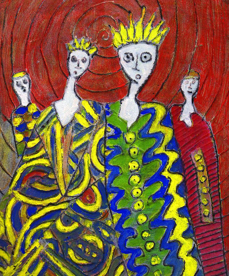 Abstract Painting - The Royal Sisters by Wayne Potrafka