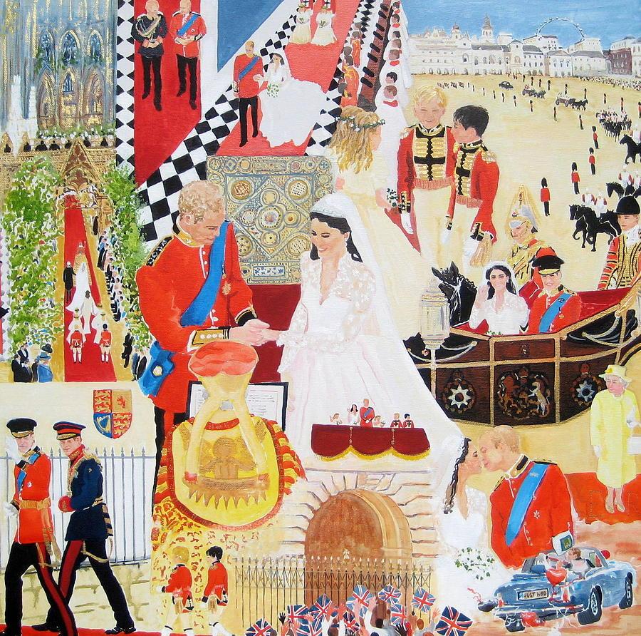 The Royal Wedding Painting - The Royal Wedding by Pat Barker