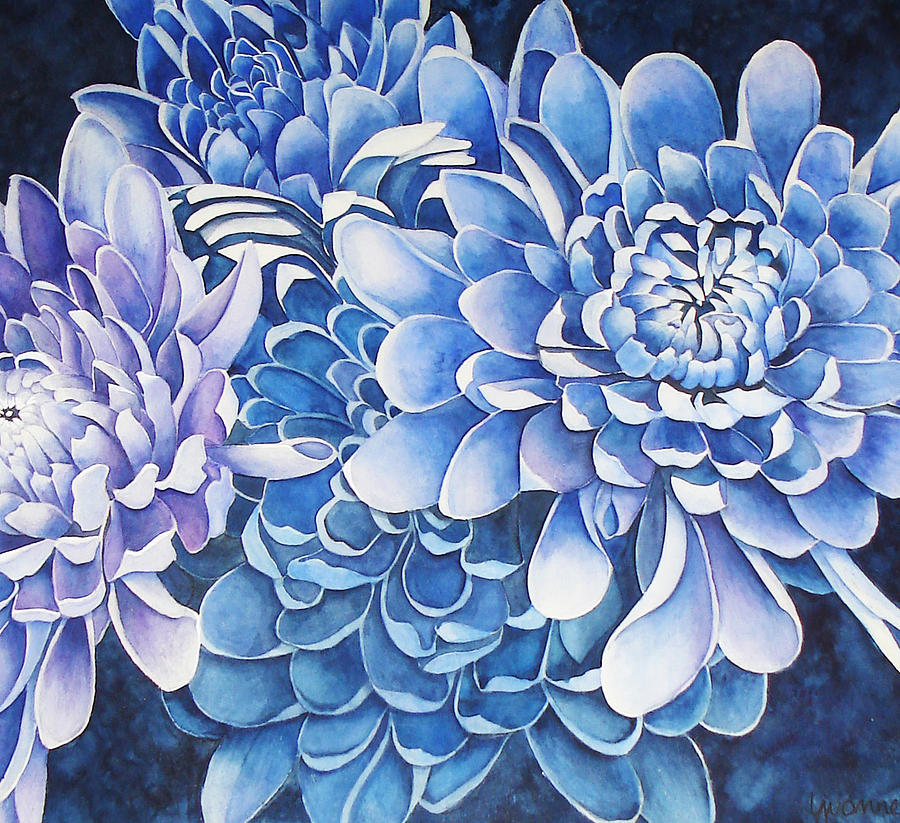 Blue Painting - The Royals by Yvonne Scott