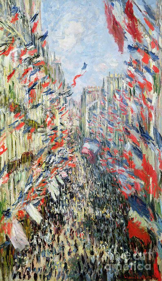 Paris Painting - The Rue Montorgueil by Claude Monet