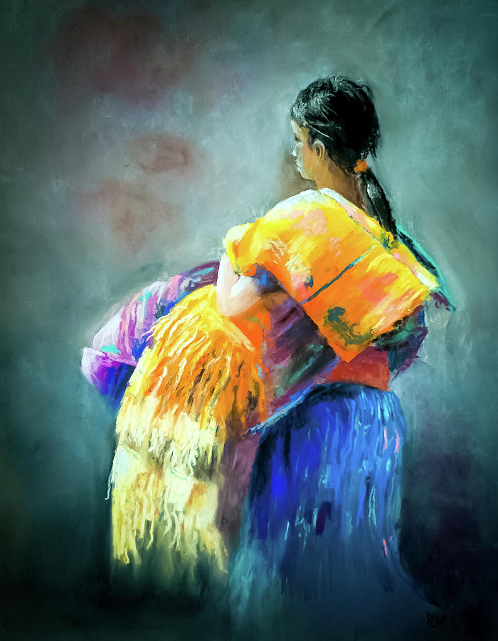 Pastel Pastel - The Rug Girl by Philip Lodwick Wilkinson