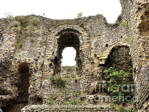 Ruin Photograph - The Ruins Of The Canterbury Castle by Lucia Timbell