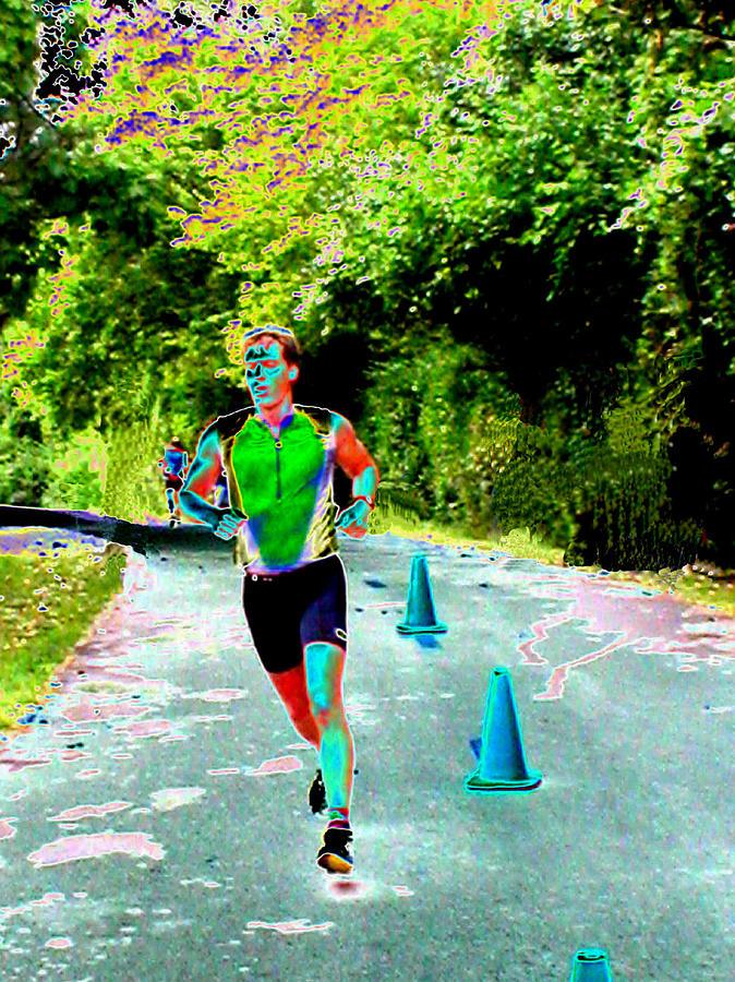 Runner Digital Art - The Runner by Peter  McIntosh