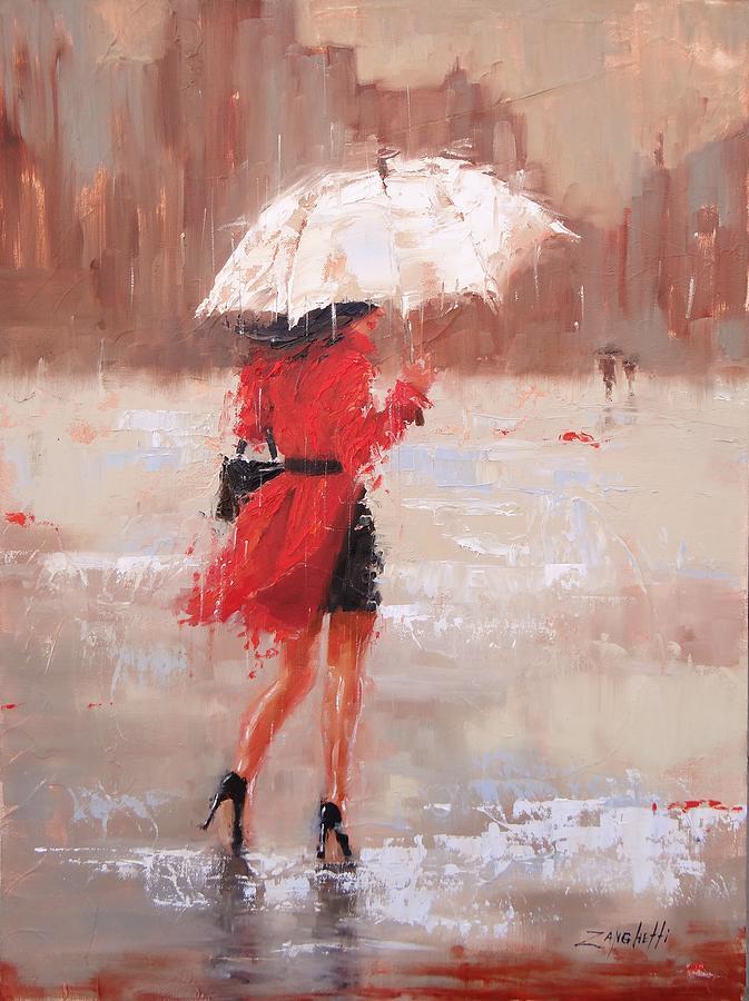 The Rush Painting by Laura Lee Zanghetti
