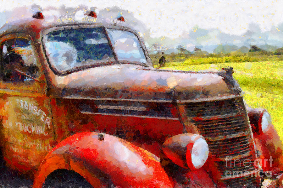 Transportation Photograph - The Rusty Old Jalopy . 7d15509 by Wingsdomain Art and Photography