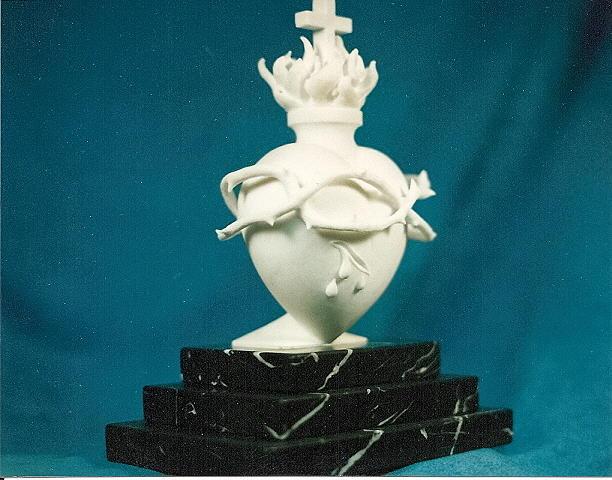 Original Sculpture - The Sacred Heart Of Jesus by Depasquale Sculptures