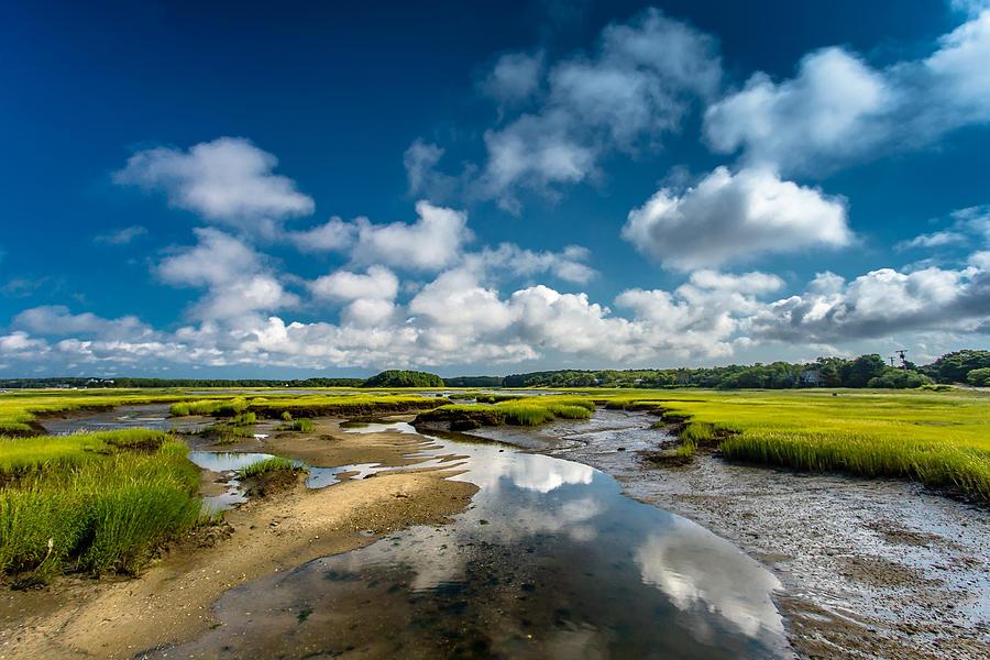 Salt Marshes Photograph - The Salt Marshes, Wellfleet Ma by Dapixara Art