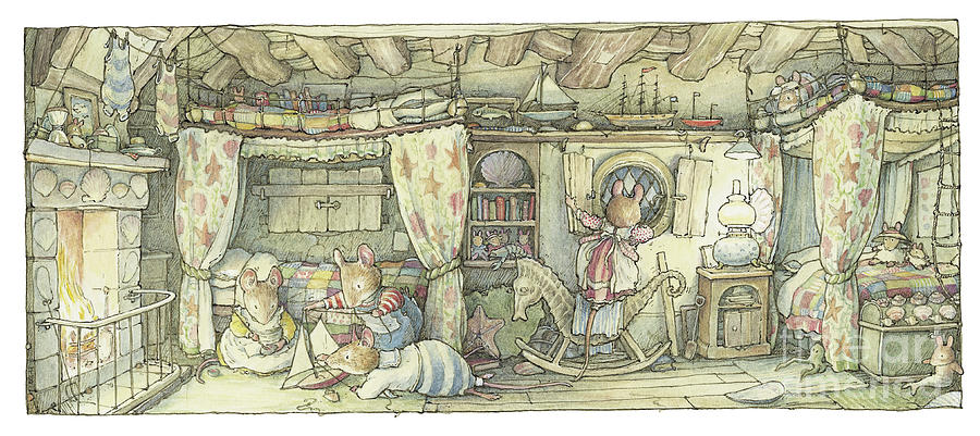 Brambly Hedge Drawing - The Saltapples Bedroom by Brambly Hedge