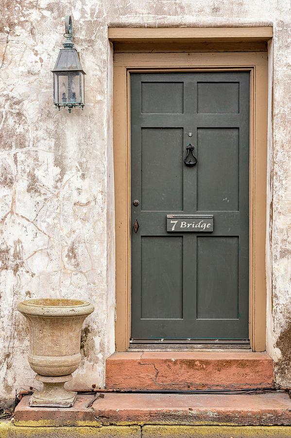 The Sanchez House Door, 7 Bridge Street, St. Augustine, Florida by Dawna Moore Photography
