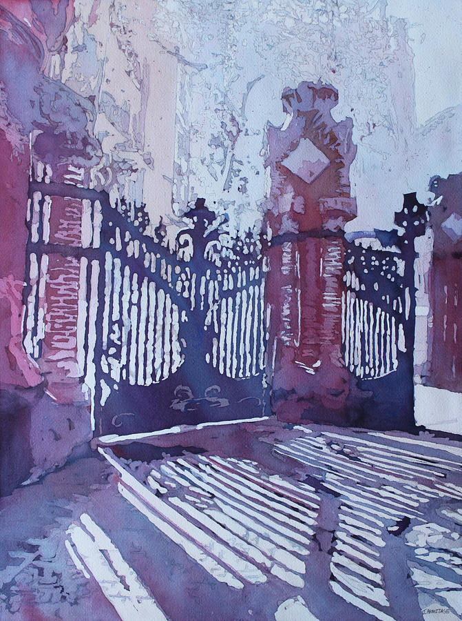 Barcelona Painting - The Sant Pau Gates by Jenny Armitage