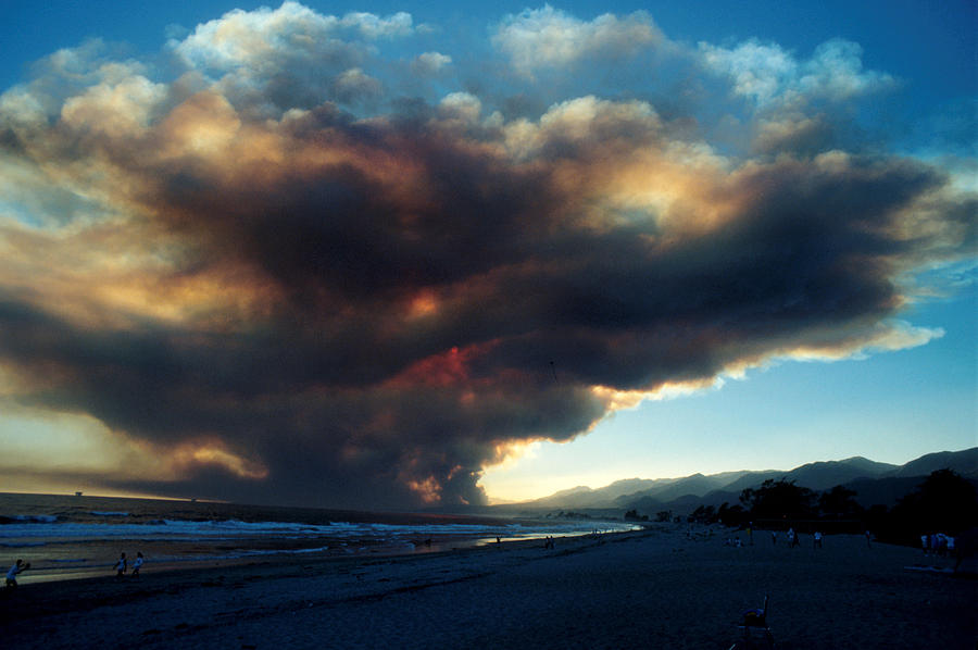 Santa Barbara Photograph - The Santa Barbara Fire by Jerry McElroy
