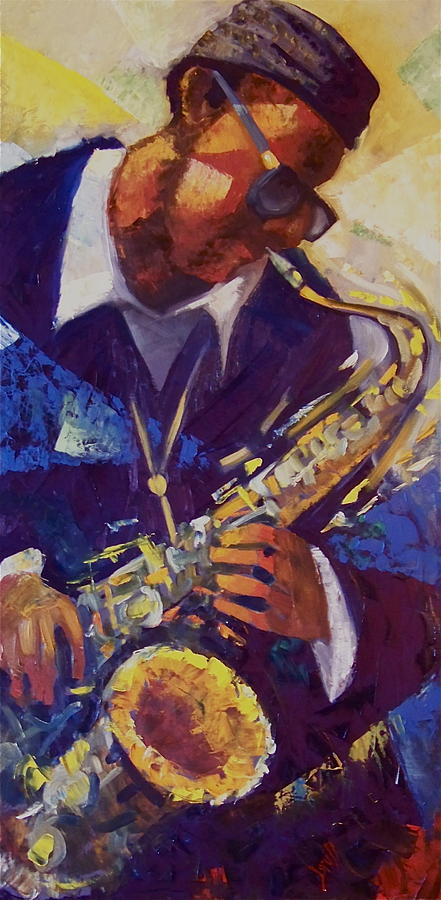 Music Painting - The Sax Jazz by Pedro Brull