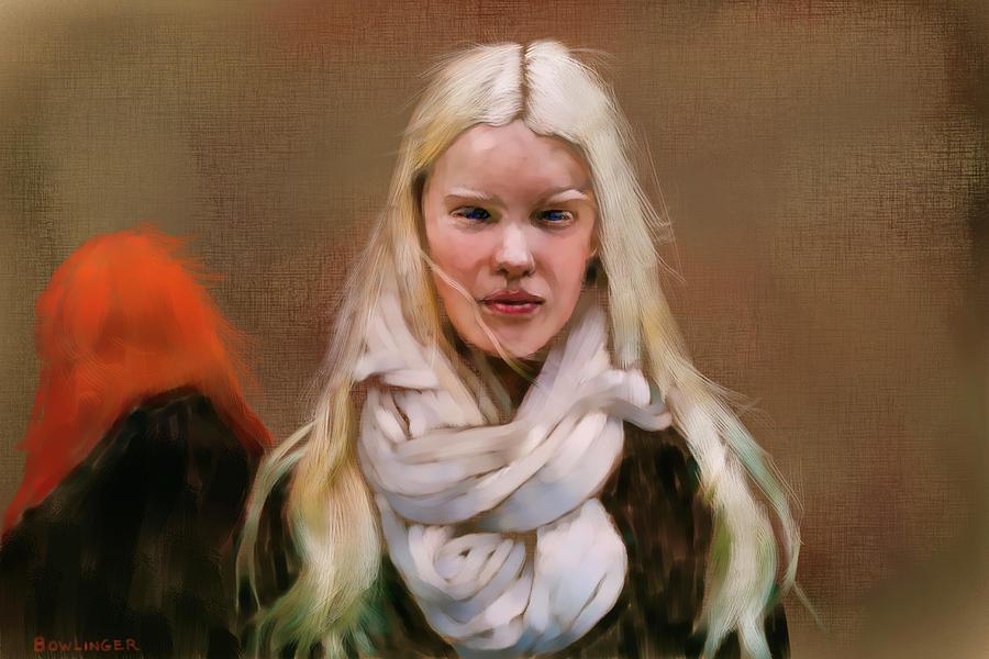 Figure Digital Art - The Scandinavian by Scott Bowlinger