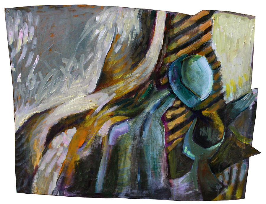 Still Life Painting - The Scarf The Glass And Caraffe by Piotr Antonow