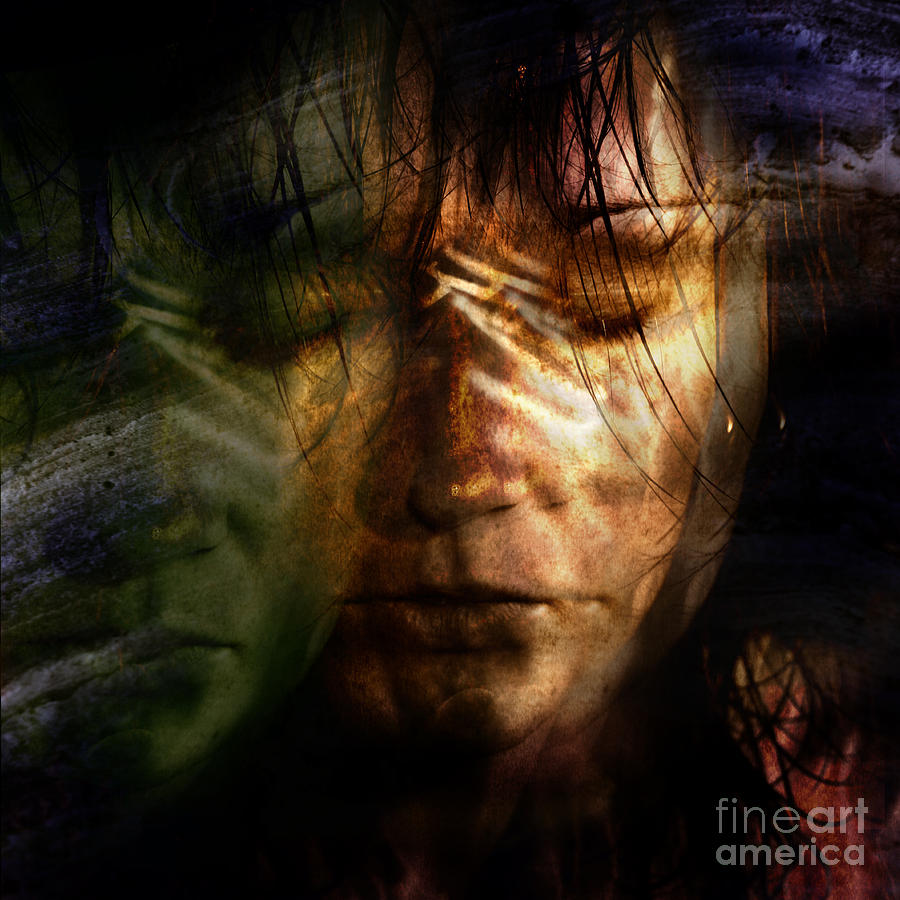 Face Photograph - The Schizophrenia by Angel  Tarantella