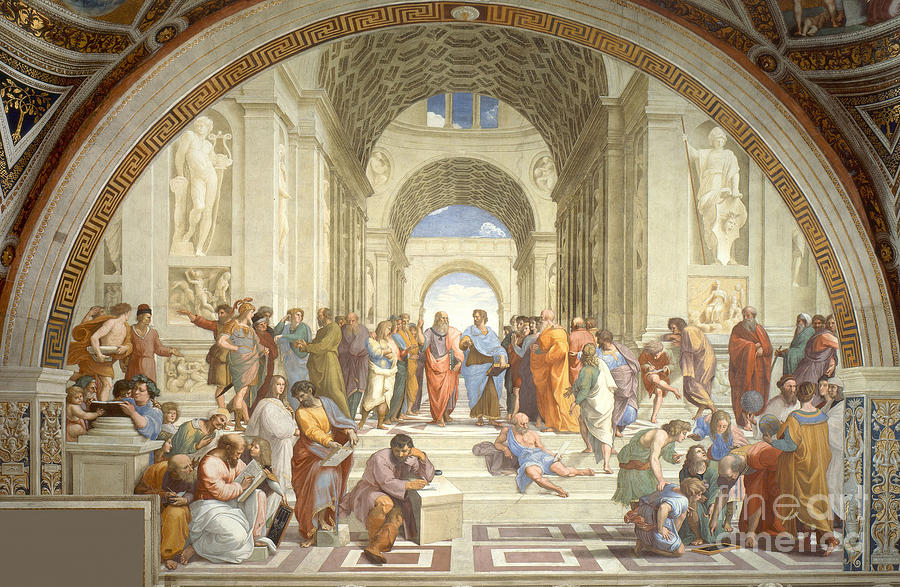 Science Photograph - The School Of Athens, Raphael by Science Source