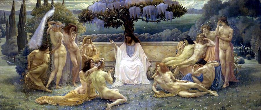 The School of Plato  by Jean Delville