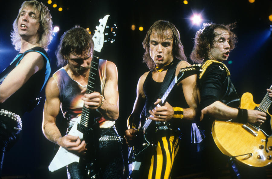 The Scorpions Photograph - The Scorpions by Rich Fuscia