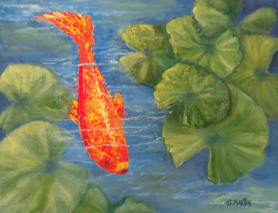 Koi Painting - The Scout by Annie St Martin