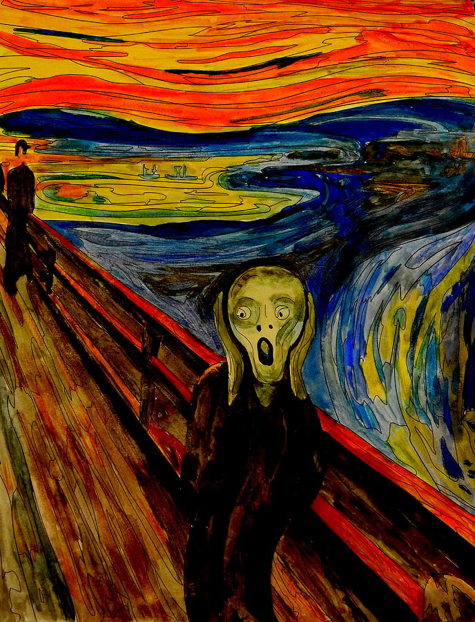 amazoncom the scream of nature edvard munch art print - 688×900