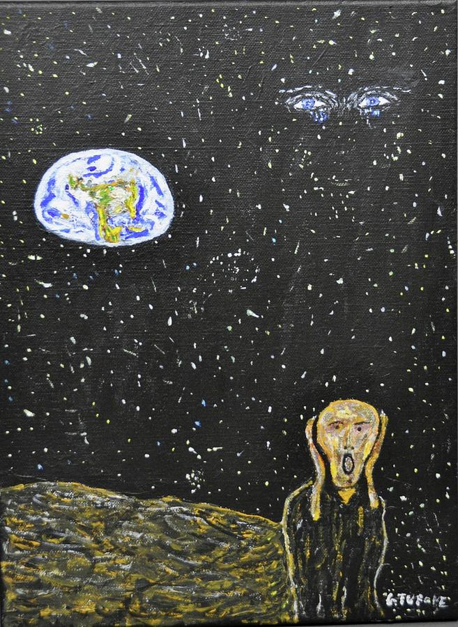 The Scream Painting - The Scream And Planets  by Gino Tupone