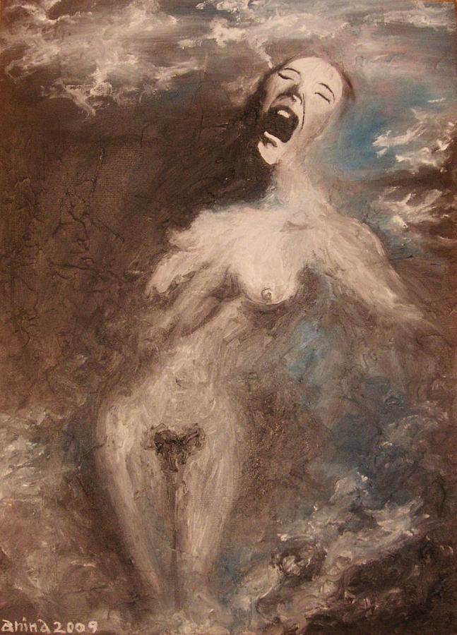 Scream Painting - The Scream by Janina Magnusson