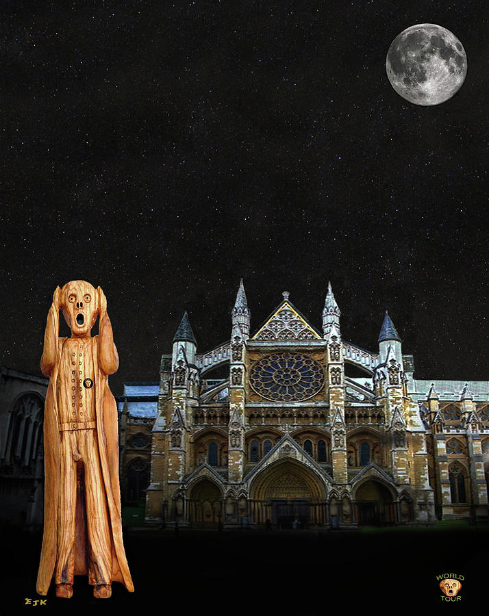 Westminster Abbey Mixed Media - The Scream World Tour Westminster Abbey by Eric Kempson