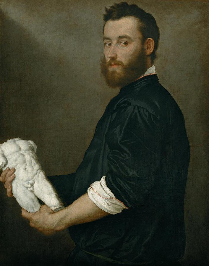 Italian Painters Painting - The Sculptor Alessandro Vittoria by Giovanni Battista Moroni