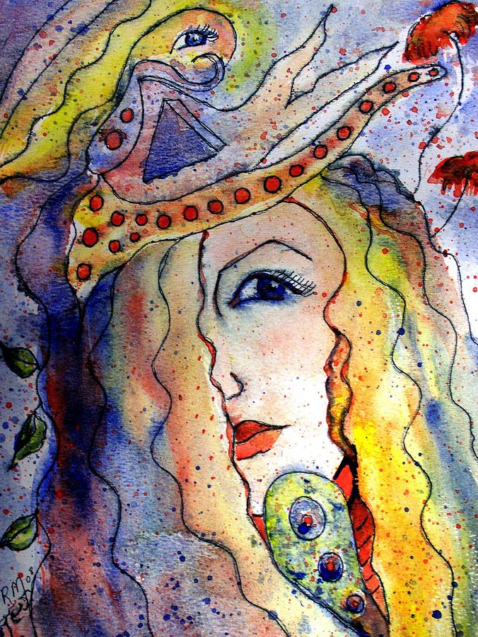 Watercolor Painting Painting - The Sea Becomes Her by Robin Monroe