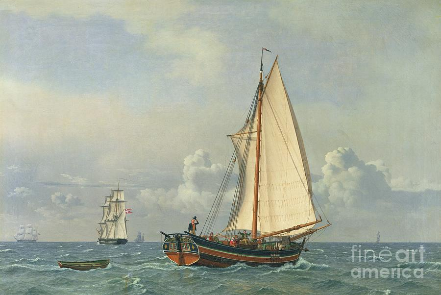 The Painting - The Sea by Christoffer Wilhelm Eckersberg