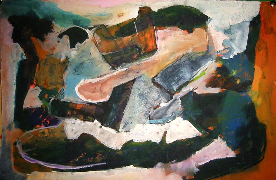 Painting Painting - The Sea Depth by Ali EL HADJ TAHAR