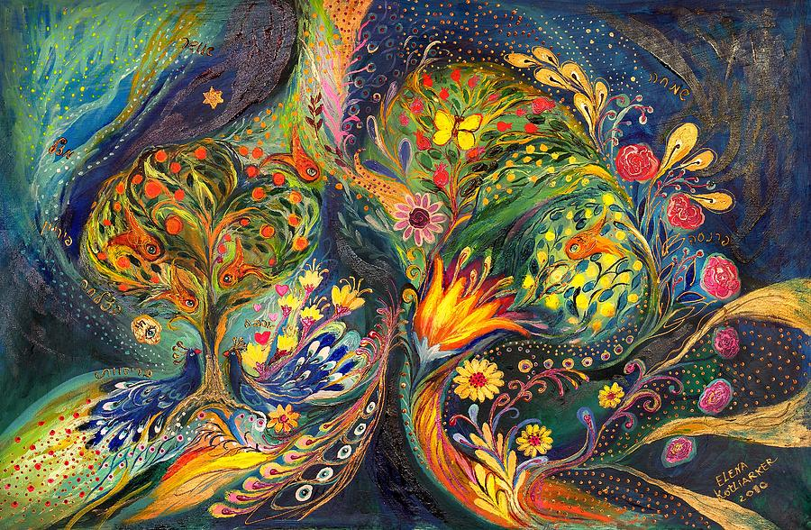 Original Painting - The Sea Garden by Elena Kotliarker