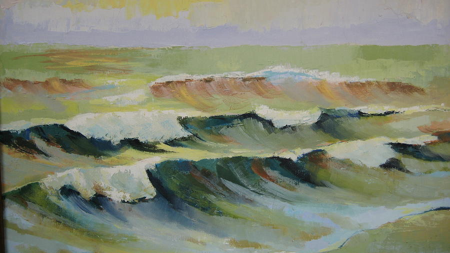 Seascape Painting - The Sea by Mabel Moyano