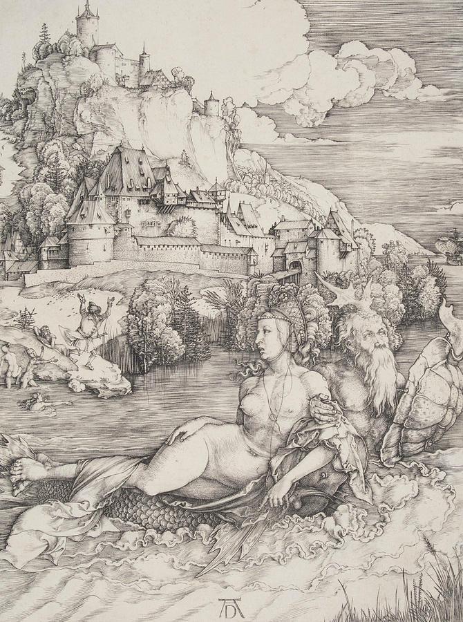Albrecht Durer Relief - The Sea Monster by Albrecht Durer