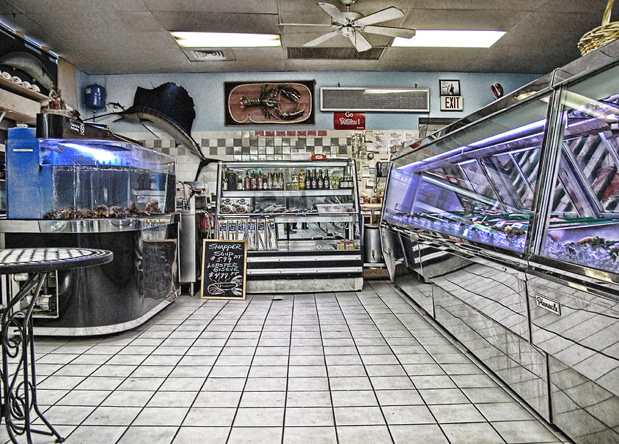 Seafood Photograph - The Seafood Store by Anthony Rapp