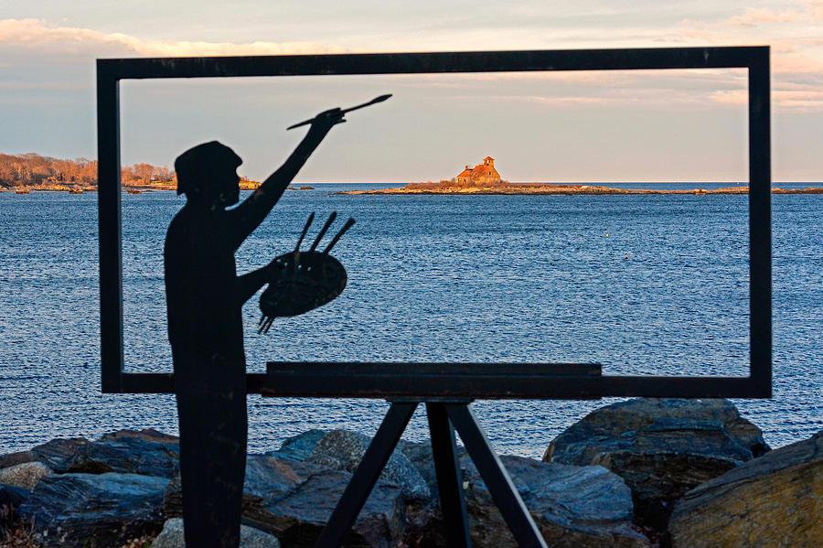 New Hampshire Photograph - The Seascape Artist by Nancy De Flon