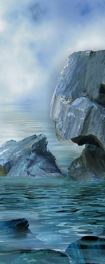 Ocean Digital Art - The Second Day by Julie Rodriguez Jones