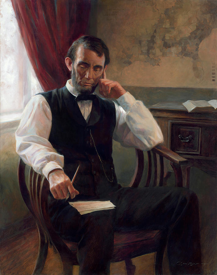 Lincoln Painting - The Second Inaugural Address by Anna Rose Bain